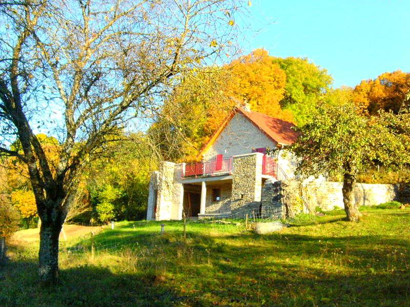Vakantiehuis Frankrijk Chez Petit vanuit de tuin