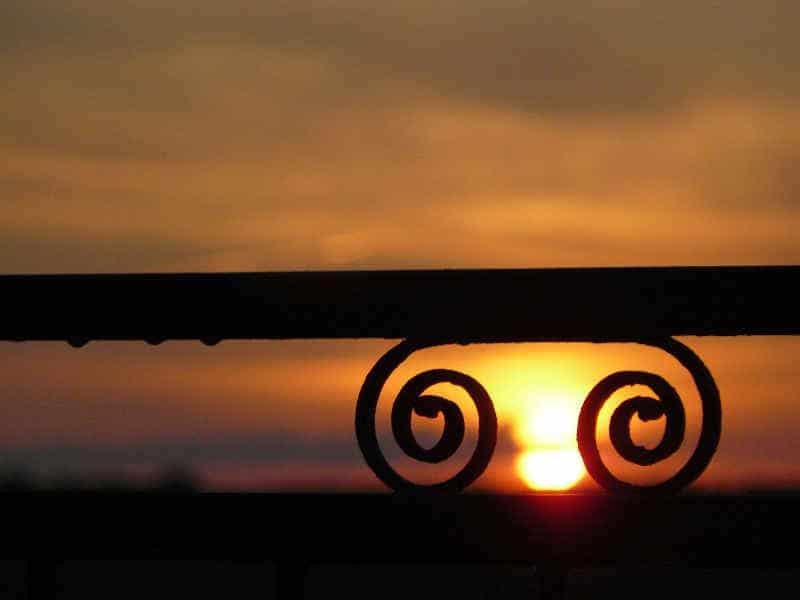 zonsondergang bij B&B A-Rigaud
