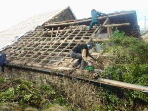 Slopen dak schuur