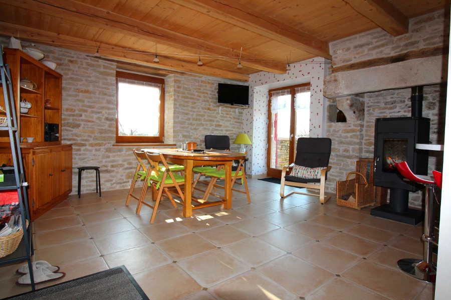 Eethoek in Vakantiehuis Chez petit