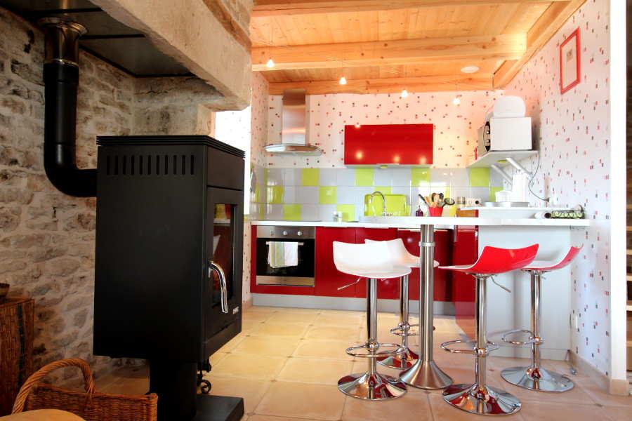 Keuken bij Vakantiehuis in Frankrijk, Chez petit