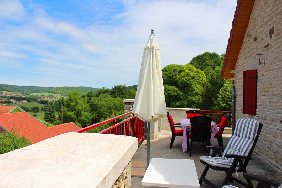 Vakantiehuis in Frankrijk met uitzicht